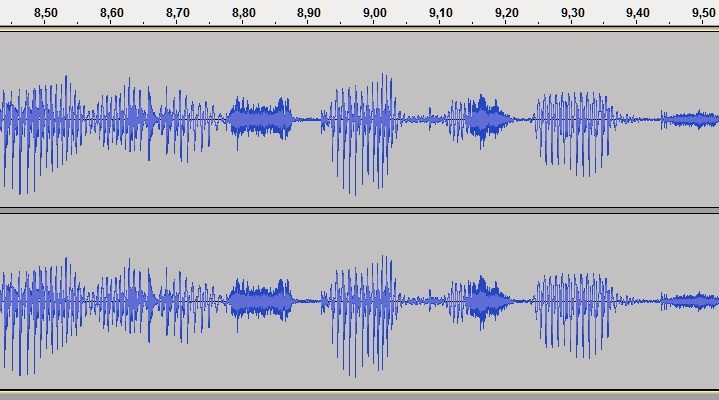 Tonaufnahmen für ein Hörbuch