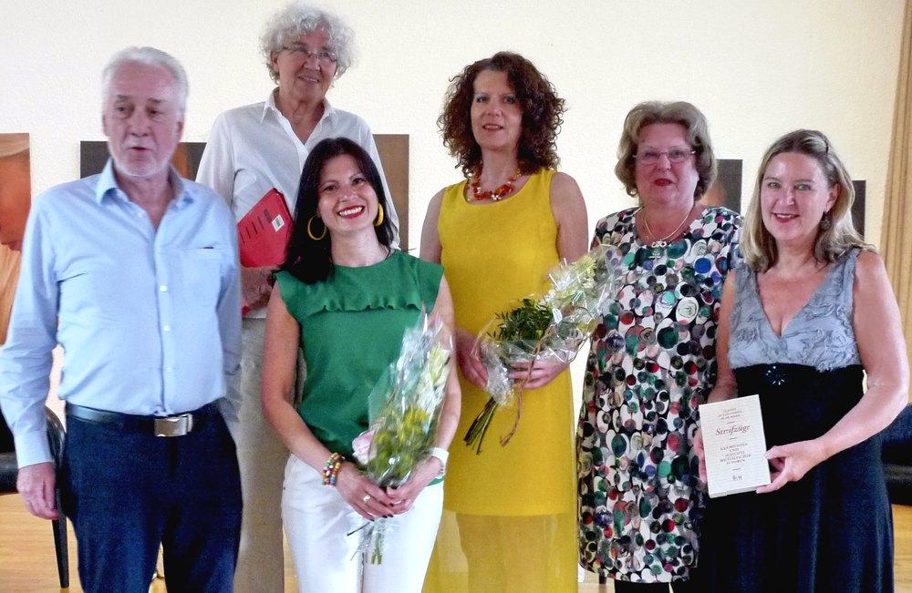 Gruppenfoto: Bernd Kämper, Brigitta Willer, Velina van der Gaag, Brigitte Riechelmann, Ulrike Schmidt, Potarczyk