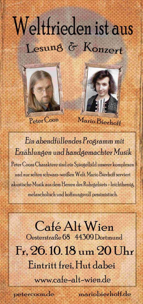 Peter Coon - Mario Bierhoff - Cafe Alt Wien - Dortmund