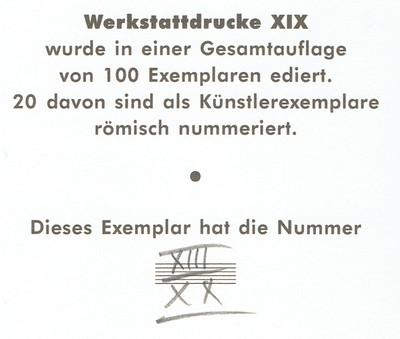 Hans-Werner Kube: Werkstattdrucke 2018 Rückseite