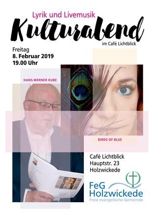 Kulturabend - Hans-Werner Kube und Birds of Blue