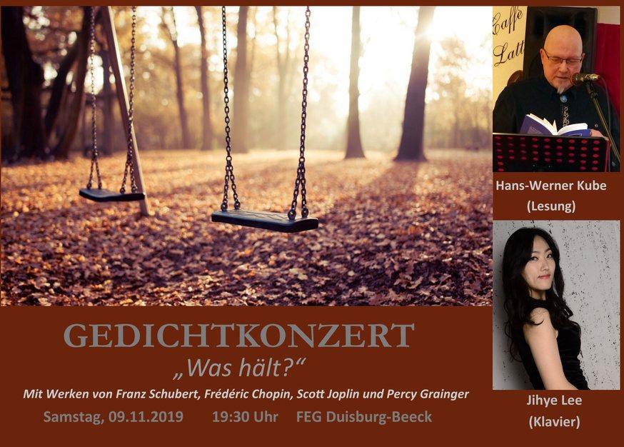Gedichtkonzert - Hans-Werner Kube und Jihye Lee