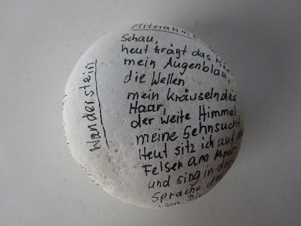 Poesie-Steine von Annette Gonserowski