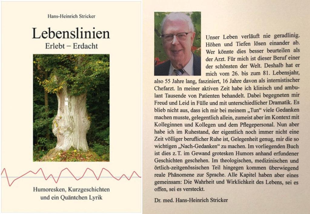 Stricker - Lebenslinien - Cover und Buchrücken